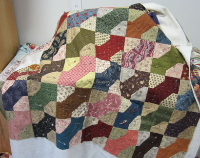 Bow-tie-quilt---quilting