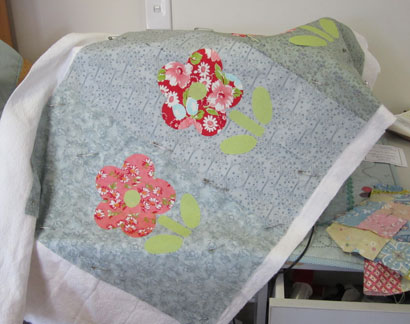 Floor-mat---floral-applique