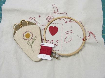 Christmas-quilt---stitchery