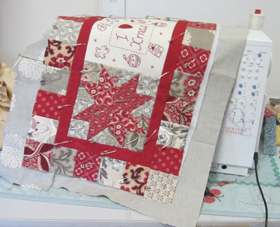 Christmas-quilt---quilting