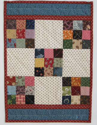 Nine Patch Dolly Quilt