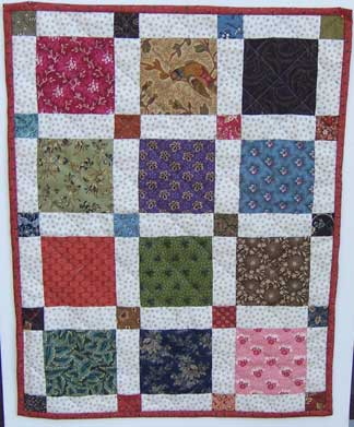 Scrap Squares Dolly Quilt