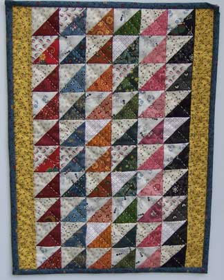 Strippy Triangles quilt